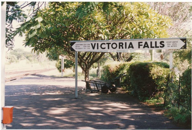 in the middle of Africa... Nature No People On The Road Of Victoria Falls Text