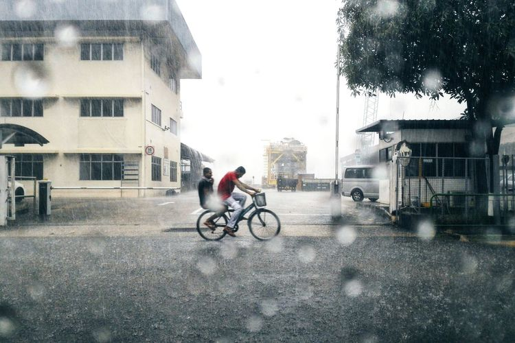 Yesterday's downpour was torrential at the least. But training must go on. Rain Cycling Tuas Singapore Downpour Monsoon Transport Enjoying Life Meinautomoment Original Experiences