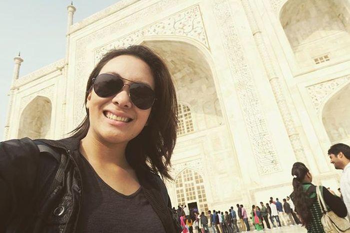 Selfie with the Taj! Tajmahal Rachatravelsindia