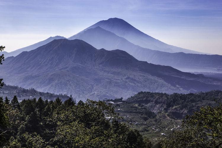 Gunung Batur ASIA Bali Gunung Batur INDONESIA Travel Blue Landscape Mountain Mountain Range Mountains Volcano