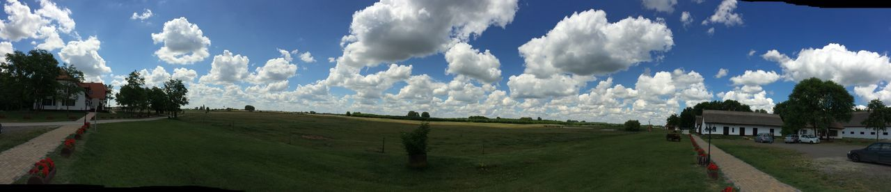 Beautiful Cloud Cloudy Croft Hungary Kerekegyhaza Panorama Panoramashot Puszta Sky