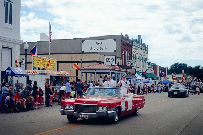 Czech Festival Parade Cadillac Small Town USA Main Street