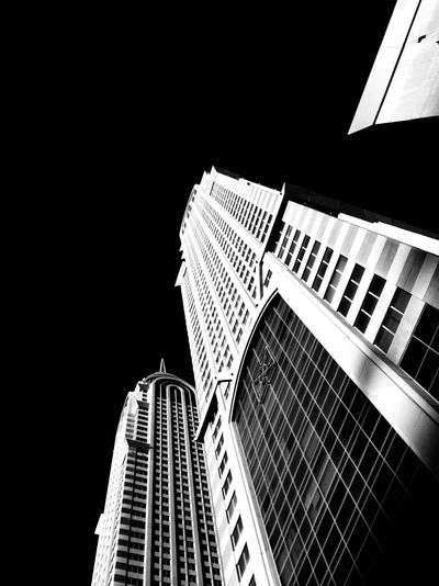Bottom Buildings Mydubai Blackandwhite Wormseyeview Iphonepic