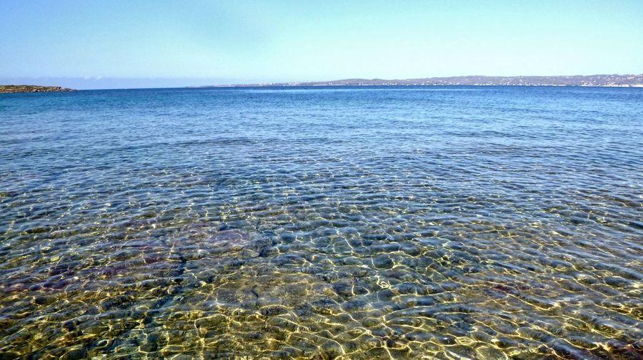 Calasetta Water Wave Sea Beach Refraction Blue Rippled Horizon UnderSea Sky