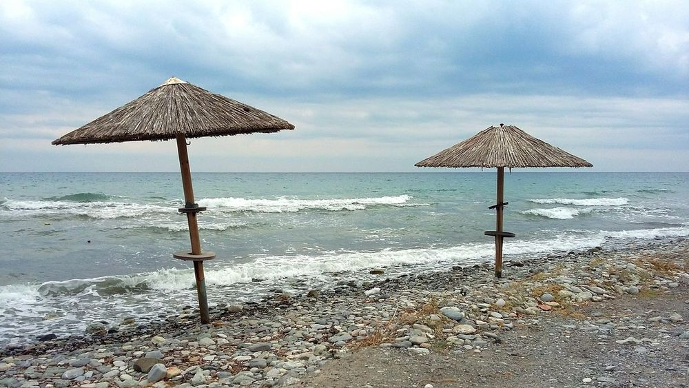 Beach Sea Water Relaxation Vacations Tourist Resort Sand Nature Travel Destinations Outdoors Cloud - Sky No People Day Beauty In Nature Sky Wawes Ocean Andventure Time Greece Leptokarya Summer