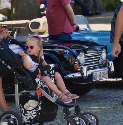 Cool Baby Transportation Mode Of Transport Car Togetherness Real People Blond Hair Childhood Outdoors Child Day Two People Bicycle People Land Vehicle Lifestyles Adult Girls Motorcycle Young Adult Young Women EyeEm City Lover EyeEm Best Shots