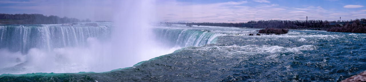Niagara Falls Beauty In Nature Canada Cold Temperature Environment Flowing Flowing Water Forest Landscape Long Exposure Motion Nature No People Outdoors Plant Power Power In Nature Purity Running Water Scenics - Nature Stream - Flowing Water Travel Destinations Tree Water Waterfall