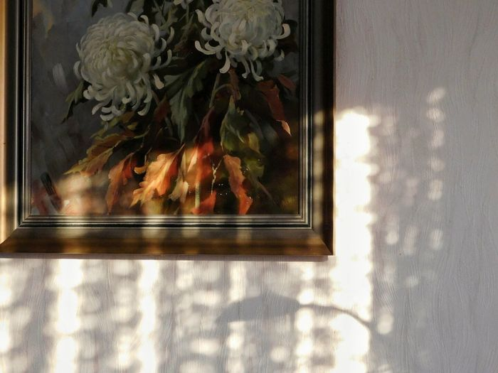 Reflection Window Indoors  No People Window Sill Close-up EyeEm Eyeemphotography Eyeem Market Interior Detail Interior Decoration LightEffects Darkness And Light Painting OldPainting Pictureframe Symmetry Shadow ArtWork Living Room Grandmashouse Home Home Interior