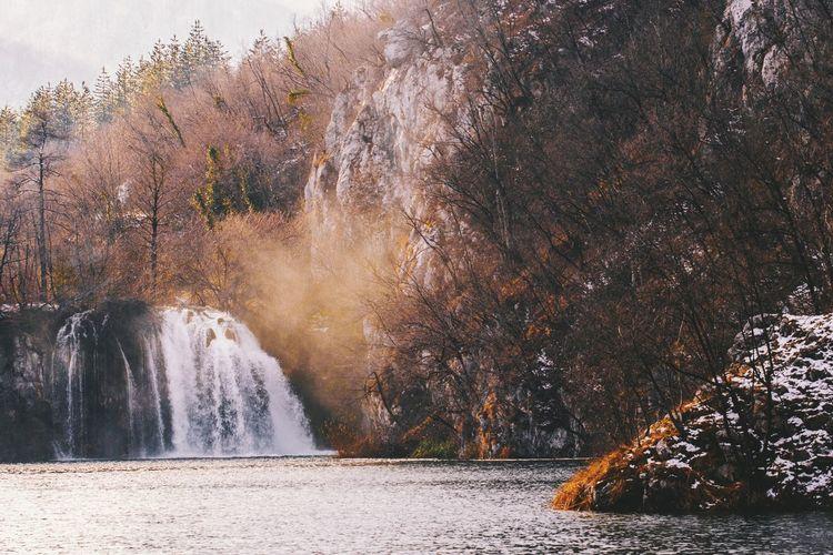 Croatia Winterscapes Wintertime Beauty In Nature Cold Days Nature Nature_collection Nature_perfection Naturelovers Plitvice National Park Scenics Tranquil Scene Tranquility Waterfall