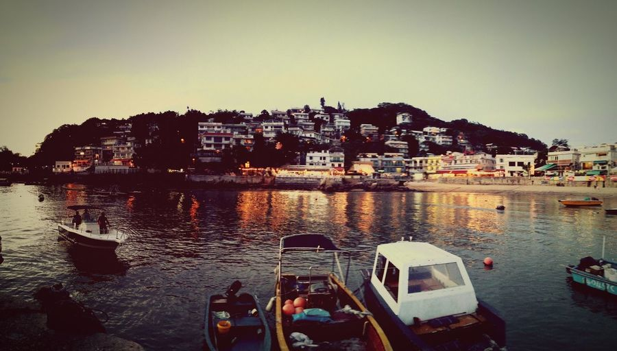 First Eyeem Photo Harbor Seaside Island Boats Sunset Night Lights Lamma Island