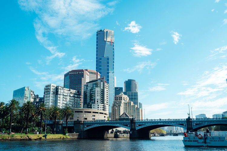 Architecture Australia City Cityscape Cloud - Sky Melbourne Modern River Riverside Sky Skyscraper Travel Destinations Travel Photography Urban Skyline Water Waterfront Yarra River