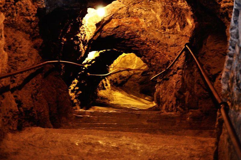 All the way down Rockbottom Mina Mine Bocaminasanramon Mexico Guanajuato Rock Rock - Object Rock Formation Solid Nature Cave No People The Way Forward Illuminated Travel Travel Destinations Geology