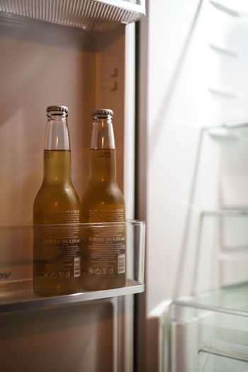 Beer Alcohol Bottle Close-up Container Drink Food And Drink Fresh Glass Indoors  No People Refrigerator Selective Focus Still Life