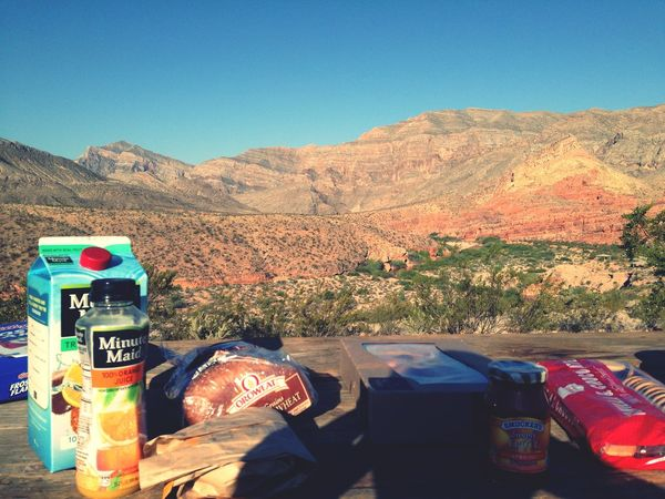 Breakfirst Breakfast Outdoors Mountain Arizona Campground USA Roadtrip Minutemaid