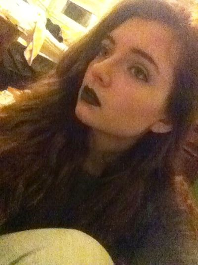 """""""She was like the moon, part of her was always hidden away"""" Black Lipstick"""