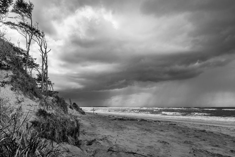 Atmospheric Mood Beach Beauty In Nature Cloud Cloudscape Dramatic Sky Majestic Nature Ocean Storm Cloud Lost In The Landscape
