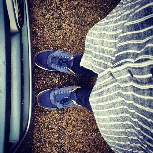 On Tuesday we Wear Blue. Blue Shoeselfie TuesdayShoeDay Nike Airmax APC Project365 56of365