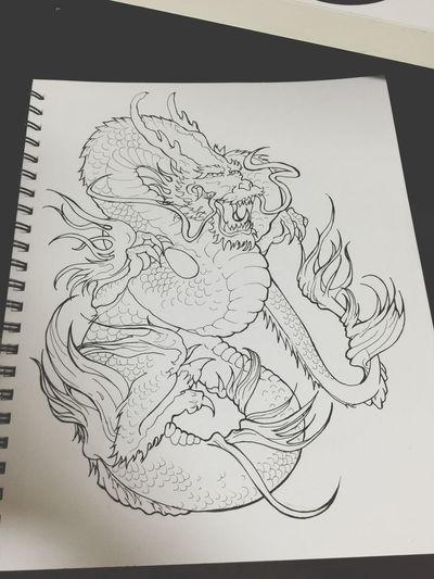 practice Tattoos Sketch ArtWork Illustration Drawing Art Design Pencil D ra Dragon