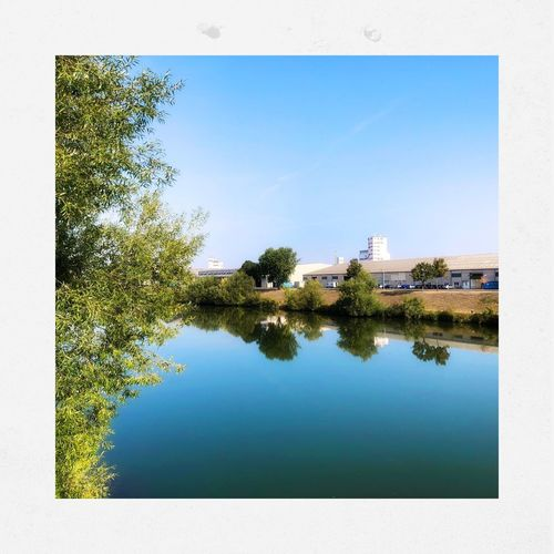 Impressionen aus Bamberg Water Reflection Plant Tree Sky Nature Architecture Built Structure Blue Lake Day Building Exterior No People Building Clear Sky Transfer Print Outdoors Growth Auto Post Production Filter