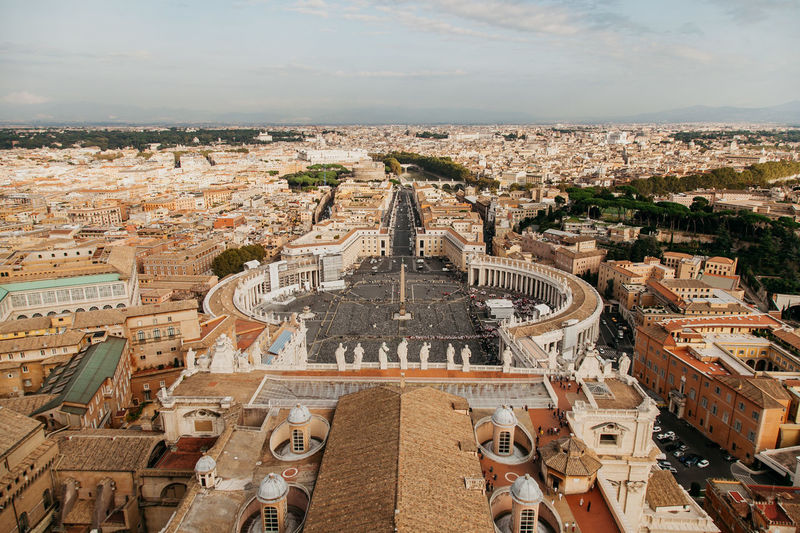 The vatican from a birds eye view.