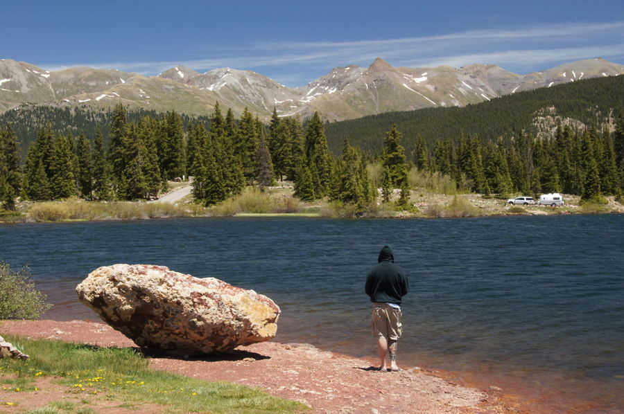 Colorado Nature Colorado_collection Nature_collection EyeEm Nature Lover Lake Lake View Mountain Range Lake With Mountains Fisherman Lonely Man