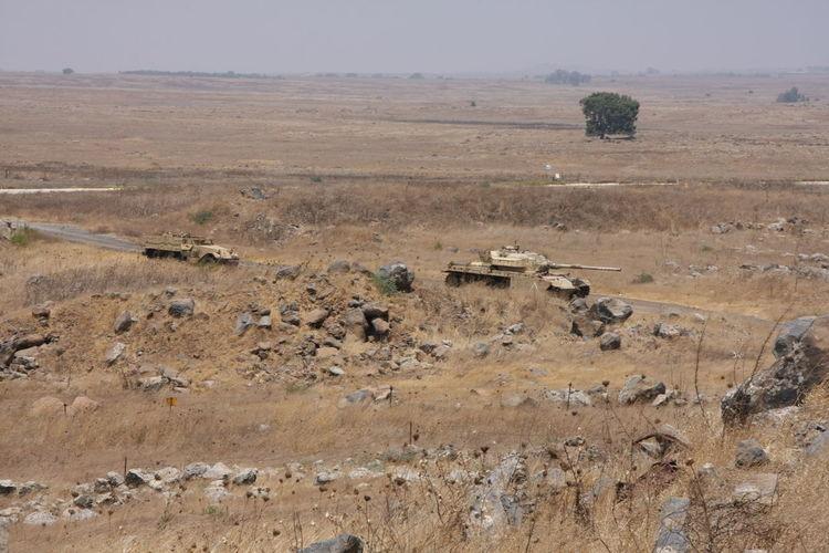 Army Field Horizon Over Land Landscape Mountain Non Urban Scene Rural Scene Tank