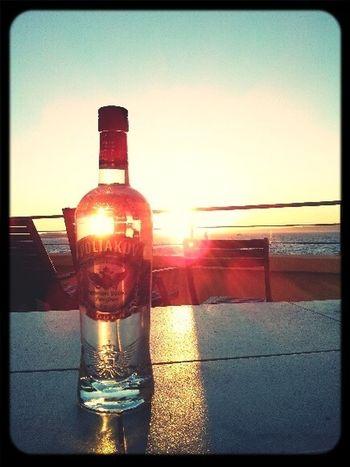 Party Drinking Vodka Sea