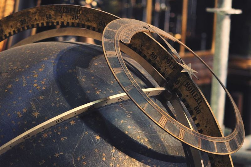 Close-up of old-fashioned astronomical clock