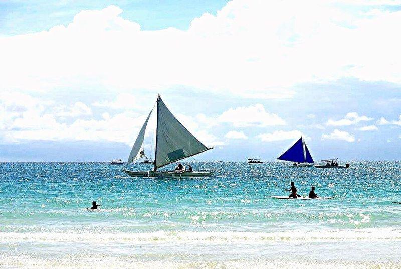 Boracay Sea Boracay Philippines Blue Vacations Beach Vlada
