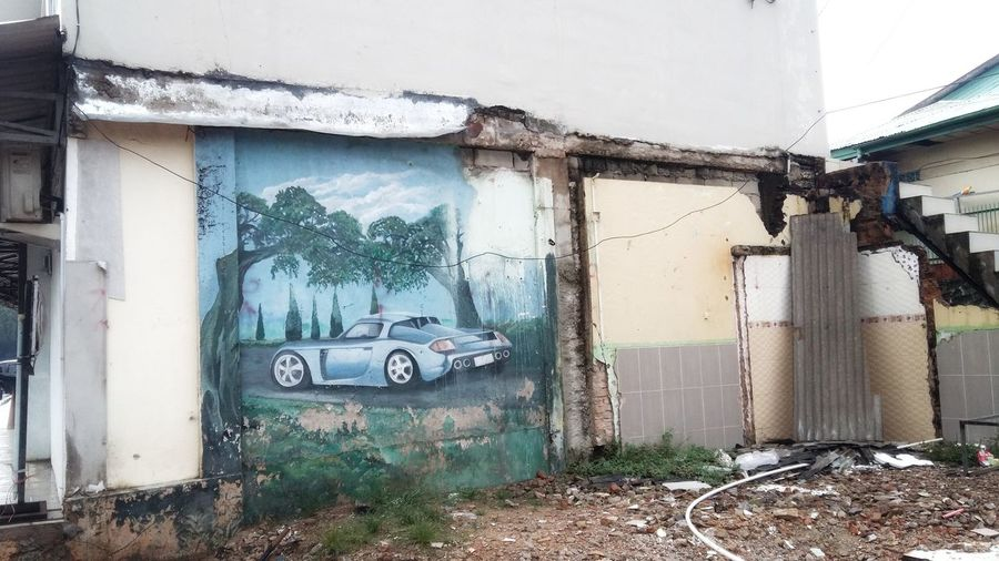 art Damaged Destruction Abandoned Built Structure Architecture Car Day No People Outdoors