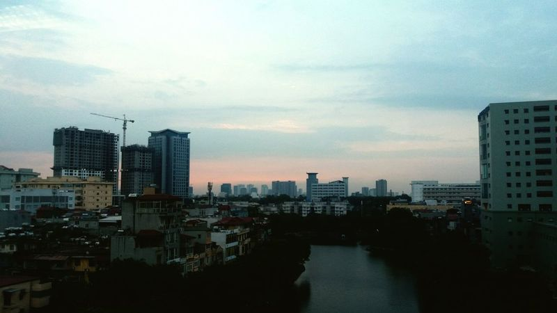 Architecture Building Exterior City Outdoors Sky Cloud - Sky Day Hanoi Vietnam  Lake Water Vietnamese Street