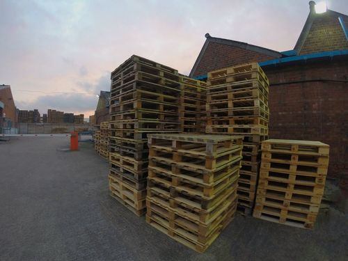 Stacks Of Pallets...x Stack Pallet Manufacturing Pallets Factory Wooden