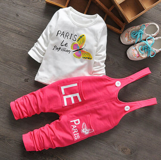 Babyclothes Babygirljumpsuit Infants Jumpsuit Kidsclothes Pink Toddlers  White