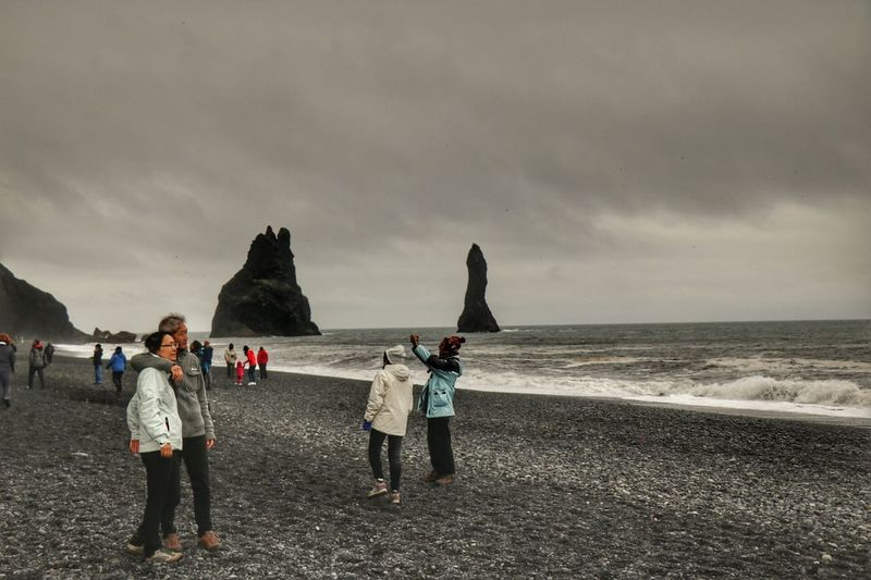 Reynisdrangar Reynisfjara Turist Sea Beachphotography Beauty In Nature Beautiful Nature Beauty In Ordinary Things Iceland_collection