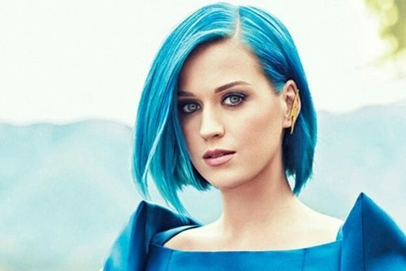 Katy Perry Blue Hair Beautiful ♥