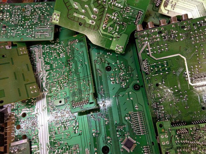 Full frame shot of computer chips