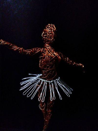 Wire Sculputre BallerinaOnPointe Art Photography ArtWork