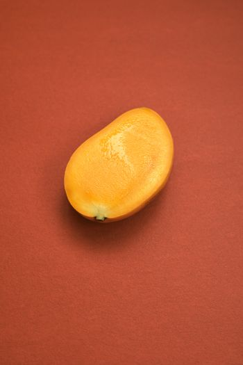 High angle view of orange slice