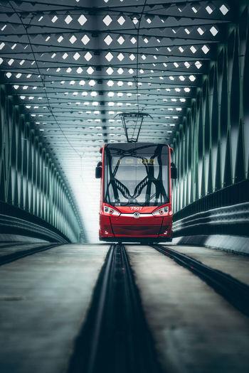 Cable car railway bridge