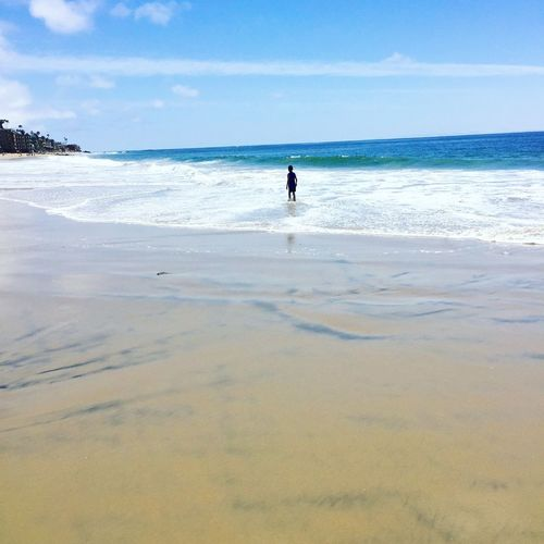 California Beaches Refelective Alone Alone Time Swimming In The Ocean Swimming Sea Beach Water Land Sky Horizon Horizon Over Water Beauty In Nature One Person Real People