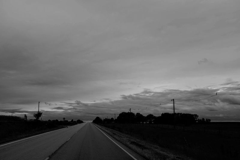 Visual Journal September 2018 Southeast Nebraska S.ramos September 2018 Visual Journal Photo Diary Always Making Photographs Camera Work Long Form Storytelling Fujifilm_xseries Rural America Photo Essay EyeEm Best Shots Getty Images Small Town Stories Eye For Photography Everyday Life FUJIFILM X100S 35mm Camera Monochrome Schwarzweiß Rural Scene Rural Scenes Highway Sky Cloud - Sky Road Transportation Direction The Way Forward Nature Field No People Environment Landscape Diminishing Perspective Beauty In Nature Land vanishing point Scenics - Nature Non-urban Scene Outdoors Dusk