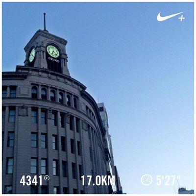 Running Tokyo Marathon Nike Run Japan 東京 日本 GYAKUSOU Ginza 銀座 雷門 Nikeplus 東京マラソン Nihonbashi ランニング マラソン 日本橋 ナイキ ラン 朝ラン Tokyomarathon