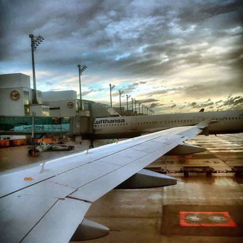 Getting ready to fly. Lufthansa Boeing Traveling ShotOniPhone6 IPhoneography Germany Airplane Airplaneview Flying High Flying Iphoneonly Travel Airport View From The Window... Viewfromtheplane Window View Airplane Wing Waiting For Take Off Sun Sun And Clouds Clouds And Sky Sky