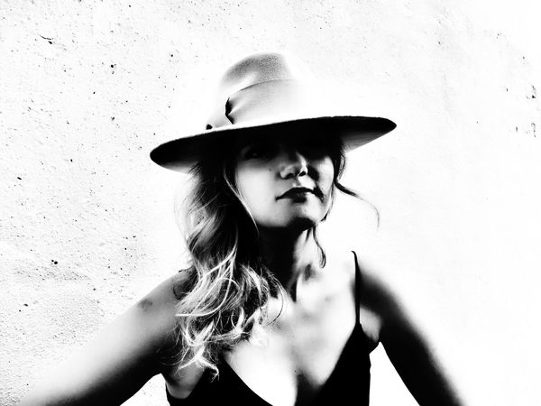 The Portraitist - 2016 EyeEm Awards Fashion Photography Product Photography Tailored To You Hat Millinery Blackandwhite Photography hat by Esther Weis Uniqueness My lovely friend with an original sense of style. Think '20, '30, '40. And she designs and makes hats. Women Around The World Welcome To Black