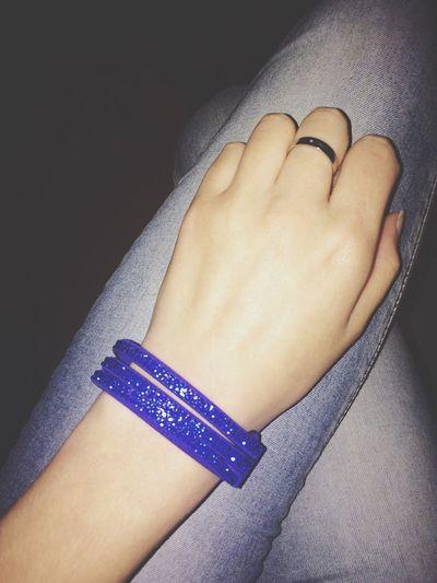 Blue Bracelet Present Glitter ❤️
