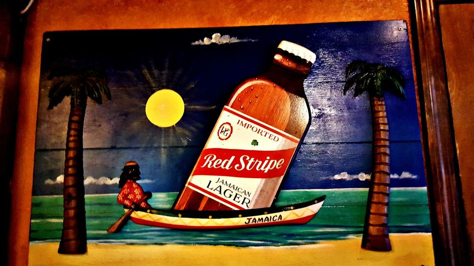 Red Stripe Beer Notes From The Underground Text Marijuana - Herbal Cannabis Communication Politics And Government Indoors  Palm Tree Day No People