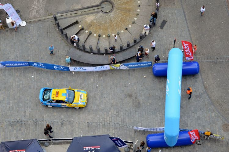 Belgium Car Colors Day High Angle View Race Roadrace Transportation