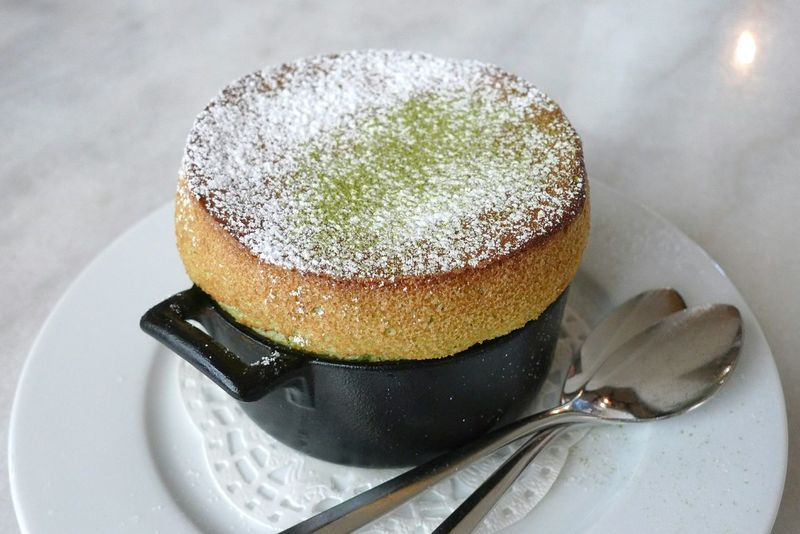 Close-up Temptation Indulgence Dessert Powdered Sugar Matcha Soufflés BakedSweet Food Sweettooth Fluffy Light From Scratch Spoons Egg Dish Restaurant France Souffle Iron Skillet Mini Tempting Perfection❤❤❤ Served Hot EyeEm New Here Green Food Stories