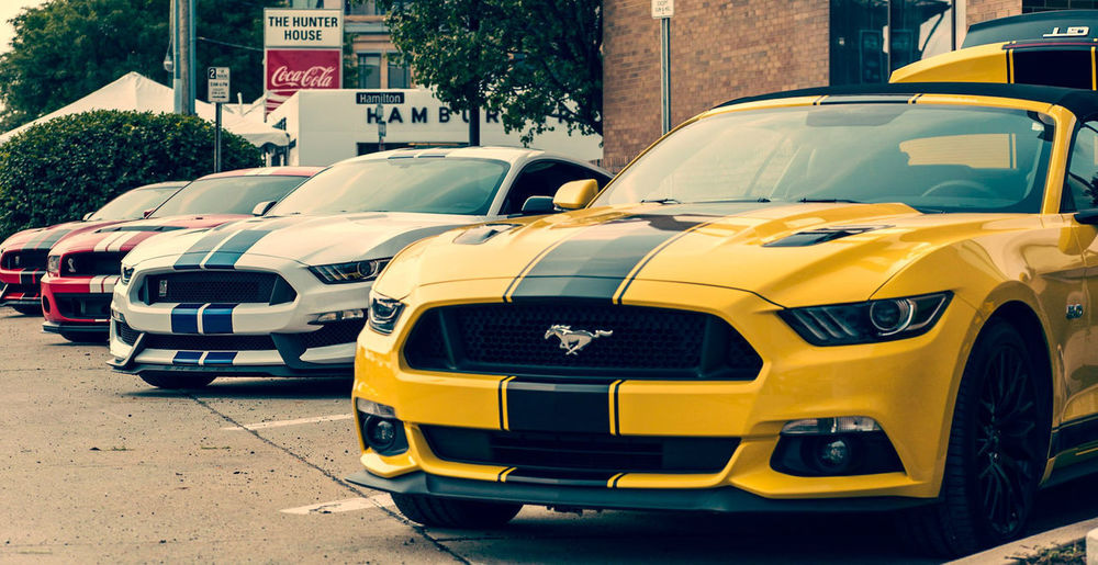 First installment of the 2018 Woodward Cruise car picks. Michigan Daytime Summer Woodward Dream Cruise WoodwardDreamCruise Cars EYEEMCARS  Vintage Cars Automobile Racecar Muscle Cars Mustang Shelby Cobra Yellow Taxi Stationary Land Vehicle City Vintage Car Sports Car Collector's Car Convertible