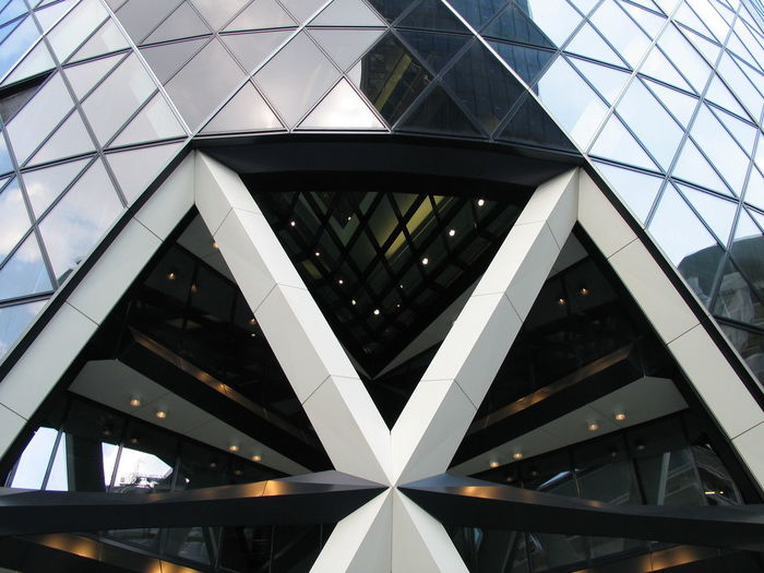 1 St Mary Axe Architectural Feature Architecture Architecture And Art Bridge - Man Made Structure Building Building Exterior Built Structure City City Life Darth Vader Engineering Entrance Full Frame Geometric Shape Glass Lights Lobby Low Angle View Modern No People Office Building Outdoors Sky Skyscraper The Gherkin